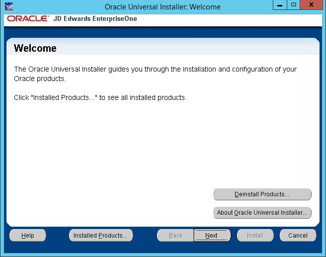 Installing JD Edwards EnterpriseOne Server Manager on WebLogic
